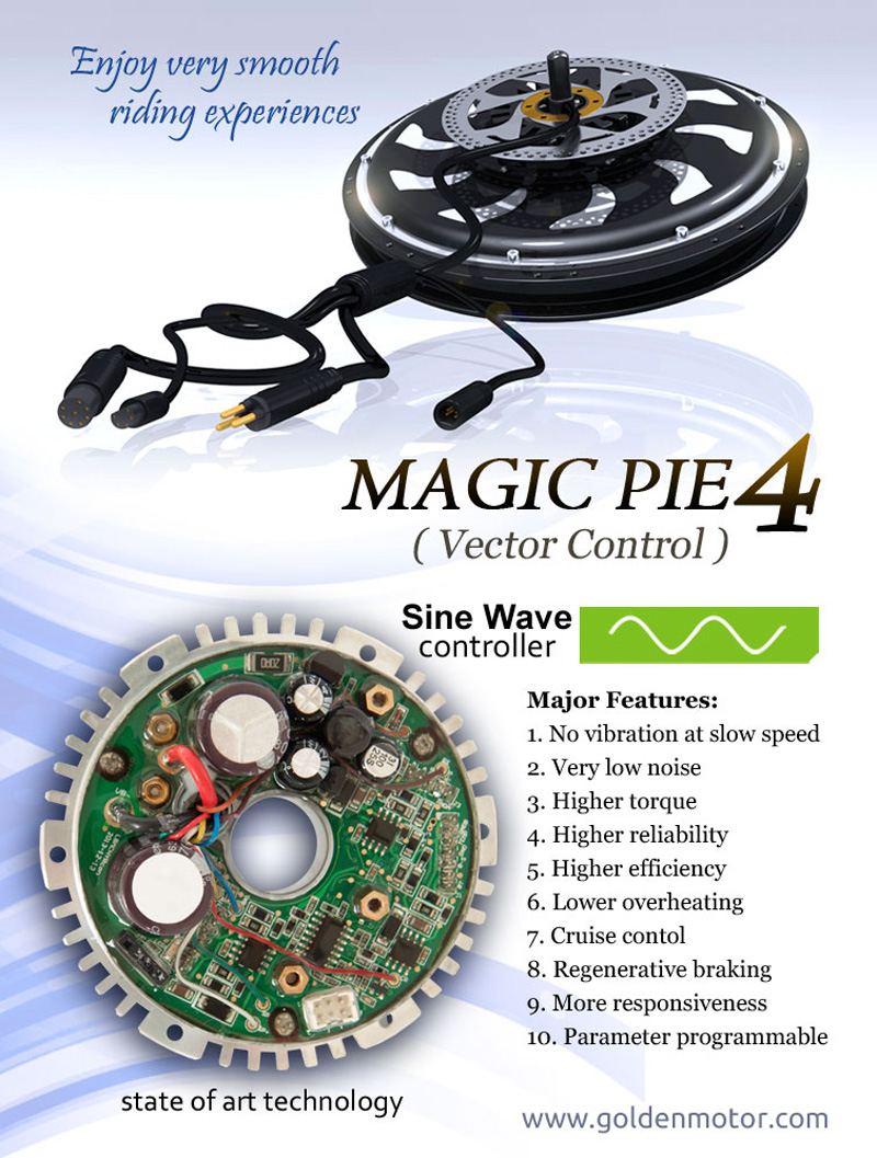 Electric bike Motor, hub Motor, SmartPie-4,MagicPie-4, bike conversion kit