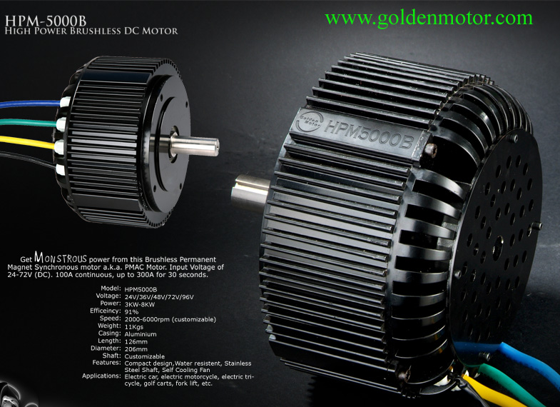 New 48v 5000w Bldc Motor For Electric Motorcycle